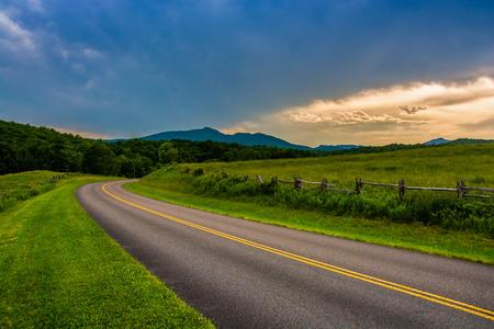 north ridge: The Blue Ridge Parkway, near Blowing Rock, North Carolina.