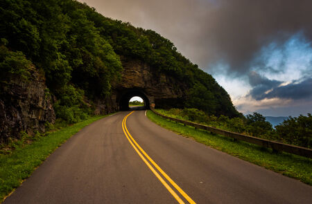 asheville: The Craggy Pinnacle Tunnel, on the Blue Ridge Parkway in North Carolina.