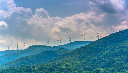 Windmills in the mountains near Keyser, West Virginia. Reklamní fotografie