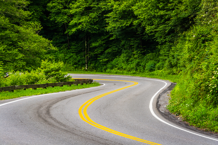 newfound gap: Newfound Gap Road at Great Smoky Mountains National Park, Tennessee.