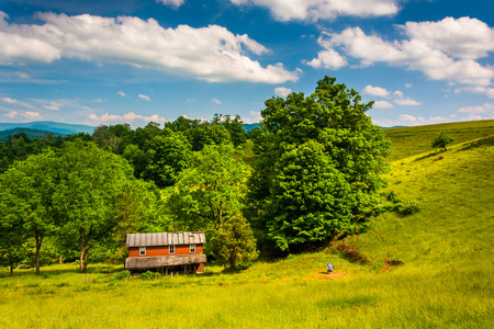 Old house in a field in the Potomac Highlands of West Virginia. photo