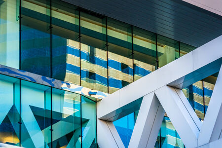 Architectural details of the Convention Center in Baltimore, Maryland. Imagens