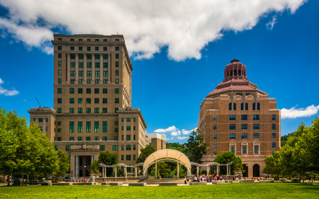 asheville: Buncombe County Courthouse and Asheville City Hall, in Asheville, North Carolina.
