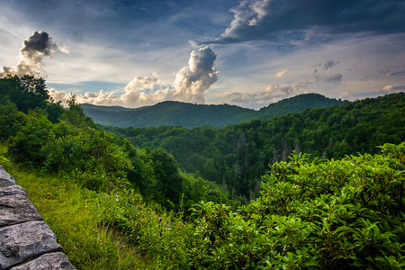 blue ridge: Evening view from the Blue Ridge Parkway in North Carolina.