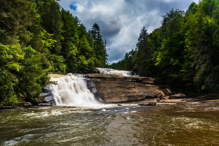 dupont: Triple Falls, in Dupont State Forest, North Carolina. Stock Photo