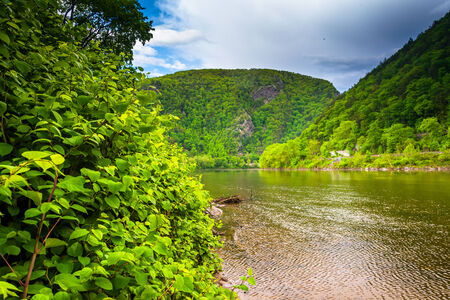 The Delaware Water Gap seen from Kittatinny Point in Delaware Water Gap National Recreational Area, New Jersey. photo