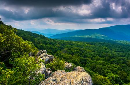 appalachian trail: View from South Marshall, along the Appalachian Trail in Shenandoah National Park, Virginia.
