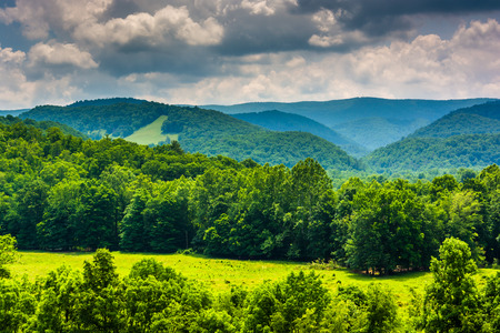 nature: View of mountains in the Potomac Highlands of West Virginia. Stock Photo