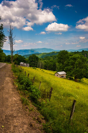 allegheny: View of a farm in the rural Potomac Highlands of West Virginia.
