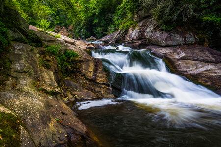 Waterfall on the Cullasaja River in Nantahala National Forest, North Carolina. photo