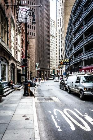 Street in Lower Manhattan, New York.
