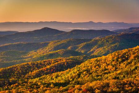 north ridge: Autumn morning view from Beacon Heights, along the Blue Ridge Parkway, North Carolina.