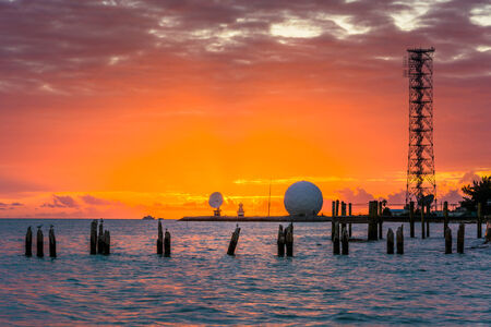 gulf of mexico: Sunset over the Gulf of Mexico from the Southernmost Point in Key West. Editorial