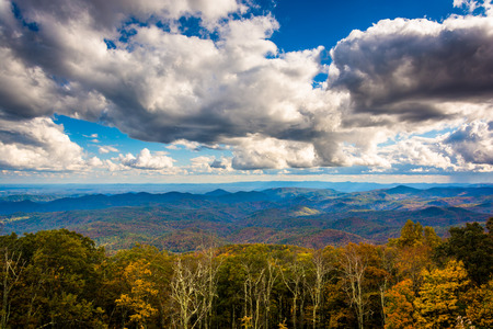 north ridge: View of autumn color from the Blue Ridge Parkway, near Blowing Rock, North Carolina.