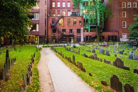 burying: Granary Burying Ground, in Boston, Massachusetts.