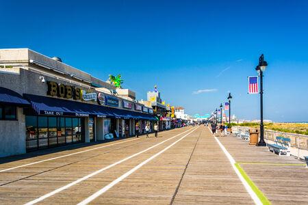 atlantic city: The boardwalk in Ocean City, New Jersey.