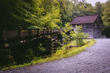 Mingus Mill, at Great Smoky Mountains National Park, North Carolina. photo