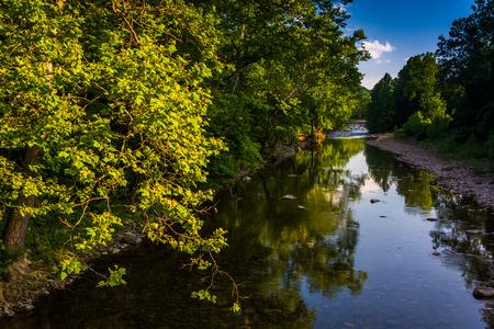 seneca: The North Fork South Branch of the Potomac River, in Seneca Rocks, West Virginia. Stock Photo