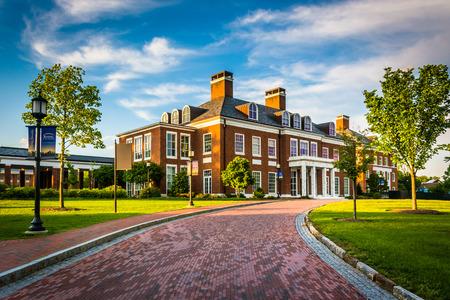 Mason Hall, aan de John Hopkins University in Baltimore, Maryland. Redactioneel