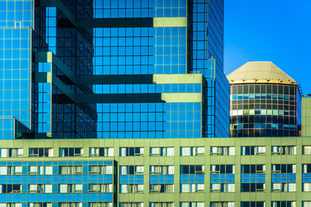 architectural details: Modern architectural details in downtown Baltimore, Maryland. Stock Photo