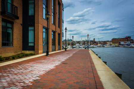 fells: The Waterfront Promenade in Fells Point, Baltimore,   Maryland.
