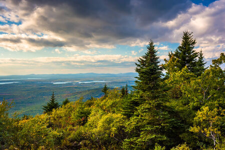 View from Blue Hill Overlook in Acadia National Park, Maine.