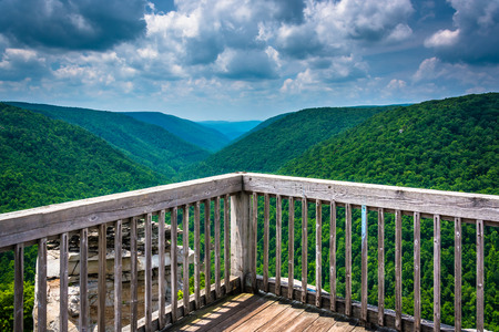 blackwater: View of the Blackwater Canyon from Lindy Point, Blackwater Falls State Park, West Virginia.
