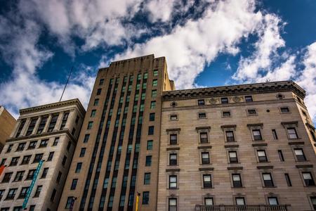 massachusetts: Buildings on Tremont Street in Boston, Massachusetts.