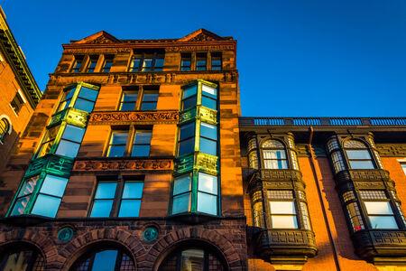 massachusetts: Old building in Boston, Massachusetts.