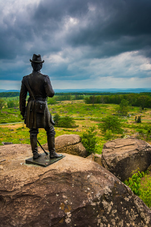 Statue on Little Round Top, in Gettysburg, Pennsylvania.