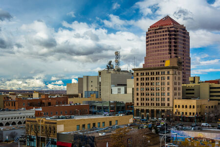 View of buildings in downtown Albuquerque, New Mexico.