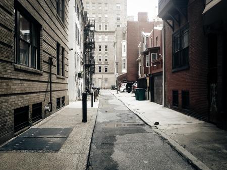 dark alley: Alley in Center City, Philadelphia.