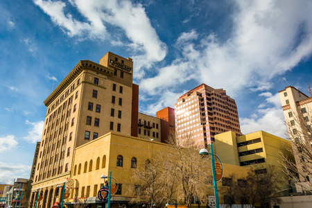 Buildings in downtown Albuquerque, New Mexico.