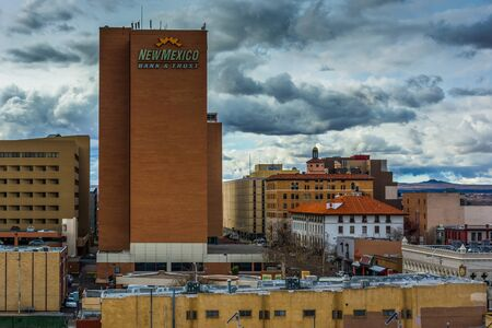 View of buildings in downtown Albuquerque, New Mexico. photo