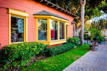 san diego: Colorful shop at Seaport Village in San Diego, California. Editorial