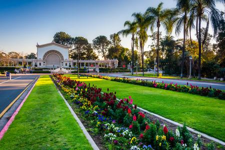balboa: Gardens and Spreckels Organ Pavillion, in Balboa Park, San Diego, California.