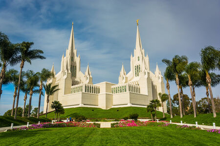 christ: The Church of Jesus Christ of Latter-Day Saints Temple in San Diego, California.