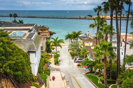 View of Fernleaf Avenue in Corona del Mar, California.
