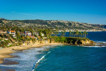 Uitzicht op de Pacific Coast van Crescent Bay Point Park, in Laguna Beach, Californië. Stockfoto
