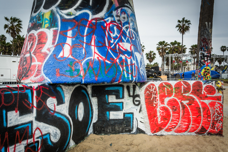 Graffiti in Venice Beach, Los Angeles, California.