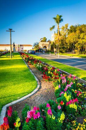 balboa: Gardens in Balboa Park, San Diego, California.