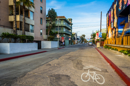 venice: South Venice Boulevard, in Venice Beach, Los Angeles, California.