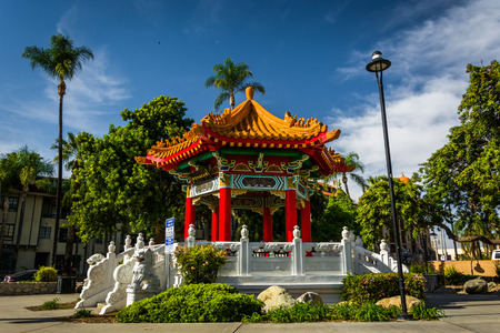 The Chinese Pavilion, in downtown Riverside, California.