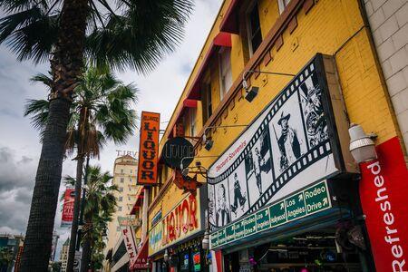Buildings along Hollywood Boulevard, in Hollywood, Los Angeles, California. Sajtókép
