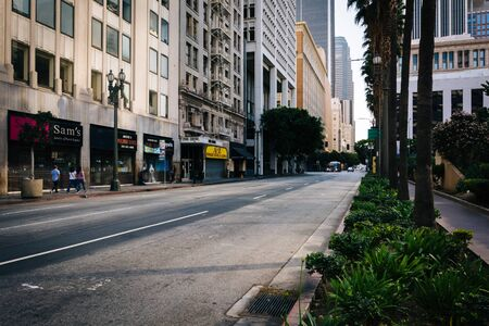 pershing: 6th Street at Pershing Square, in downtown Los Angeles, California.