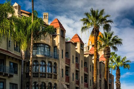 california: Exterior of the Mission Inn, in Riverside, California.
