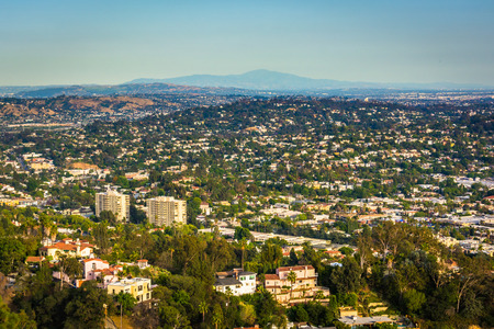griffith: View of Northeast Los Angeles from Griffith Observatory, in Los Angeles, California.