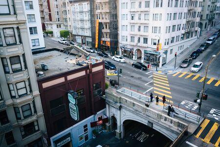 View of the Stockton Street Tunnel, in San Francisco, California.