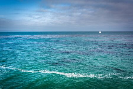 santa cruz: View of the Pacific Ocean, in Santa Cruz, California. Stock Photo