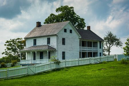 battlefield: Old house at Antietam National Battlefield, Maryland. Editorial